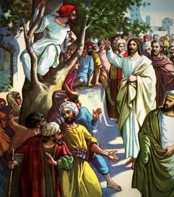O encontro de Jesus com Zaqueu